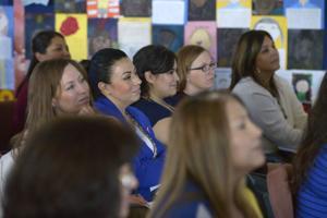 Participants listen during the autism workshop