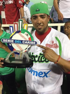 <p>Brawley native Jacob Sanchez helped Mexico to its third Caribbean Series title in four years last week. PHOTO COURTESY JACOB SANCHEZ</p>