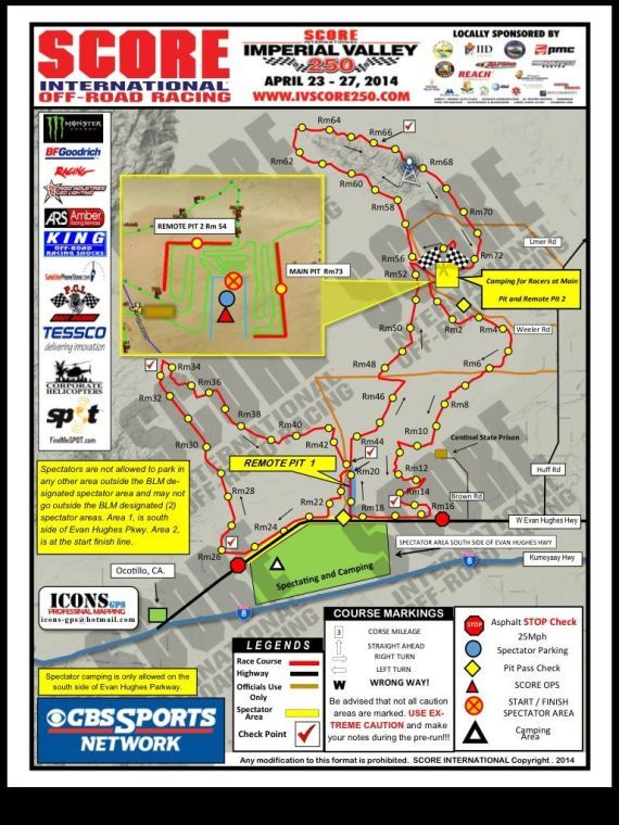 Imperial Valley Score 250 Race Map Has Been Released