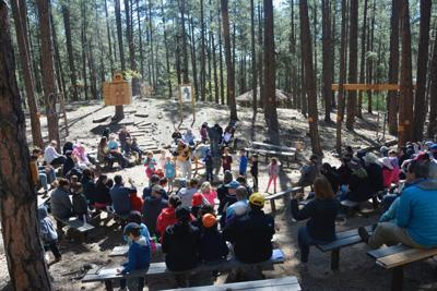 <p>About 40 families attended PJ Library of Phoenix's first family camp held April 28-30 at Camp Daisy & Harry Stein in Prescott.</p>