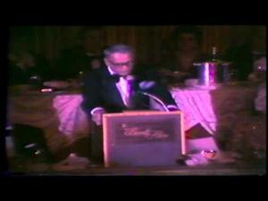 1980 - Frank Sinatra presents Simon Wiesenthal with the Eddie Cantor Foundation's Susie Award
