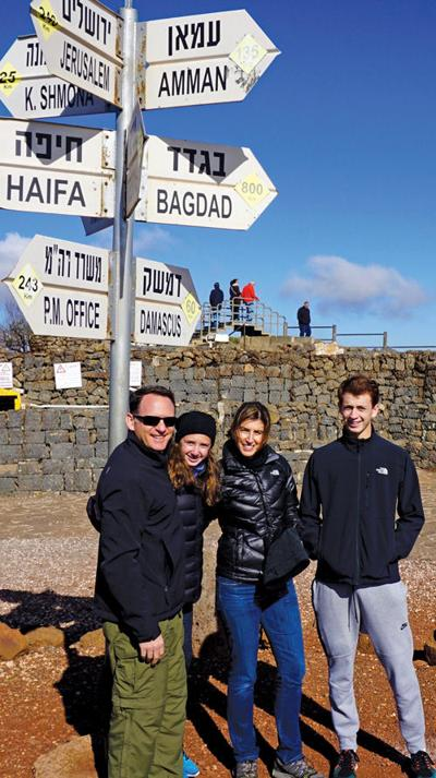 <p>Jeff, Ellie, Jen and Alex Kirshner visit the Golan Heights, where they observed Israel security in the north and heard sounds of artillery in Syria from the border.</p><p>Photo courtesy of the Kirshner family</p>
