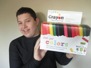 Brightening lives with crayons