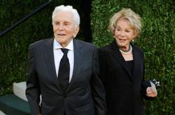 <p>Kirk Douglas with wife Anne at Sunset Tower in West Hollywood, Calif., Feb. 24, 2013. (Mark Sullivan/WireImage)</p>