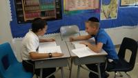<p>Chaim Ungar, left, and Moshe Ullman, sixth-graders at Torah Day School of Phoenix, will represent Arizona at this year's National Chidon HaTanach (National Bible Contest) competition.</p>