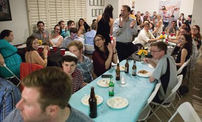 <p>Over 100 local young Jewish professionals gather for a Shabbat dinner at Moishe House Phoenix on Sept. 23 to celebrate the 10th anniversary of Moishe House, an international organization connecting Jewish adults ages 21-30 with others in their community. Moishe House Phoenix, located in Scottsdale, opened in 2013.</p><p>Photo courtesy of Moishe House Phoenix</p>
