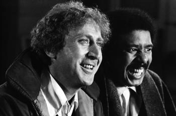 "<p>American comic actor Gene Wilder starred with comedian Richard Pryor in the action comedy ""Silver Streak.""</p>"