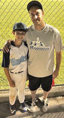 <p>Jacob Steinmetz and his father, Elliott, walk to games on Shabbat – but teammates take care of their gear and food.</p><p>Photo by Hillel Kuttler/JTA</p>