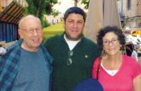 <p>Rabbi Ian Pear, center, poses with his parents, Martin and Beverly Pear of Phoenix, during their visit to Israel.  </p><p>Photo courtesy of Martin Pear</p>