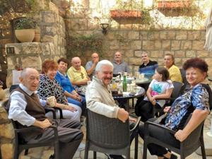 <p><span>Mort Berkowitz, center, took his first trip to Israel at 82. He met first cousins and other relatives – some of whom had fled from Romania just before the Holocaust – who traveled from various parts of the country for a get-together in Tzfat. Attached is four generations of his family.</span></p><p><span><em></em></span></p>