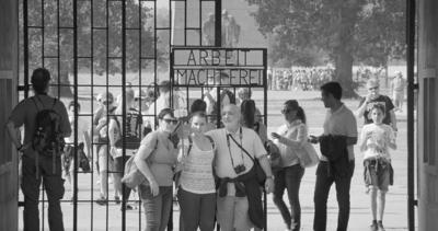 """<p>A scene from """"Austerlitz,"""" a documentary that chronicles the tourist experience in two former concentration camps.</p>"""