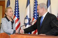 <p>Hillary Clinton meeting with Israeli Prime Minister Benjamin Netanyahu at the prime minister's office in Jerusalem, Israel, Nov. 20, 2012. (Avi Ohayon/GPO via Getty Images)</p>