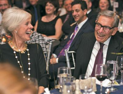 <p>Susan and William Levine share a laugh during the J Gala at the Arizona Biltmore in Phoenix on Nov. 19. The event raised more than $1.2 million for the Valley of the Sun Jewish Community Center in Scottsdale.</p><p>Photo by Sandra Tenuto Photography for the Valley of the Sun JCC</p>