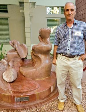 Sculpture marks artist's homecoming