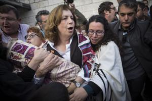 Women struggling for equal rights at the Western Wall