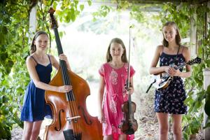 <p>The Dan River Girls -- Ellie,Jessie, and Fiona Burdette(left to right).</p>