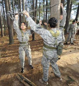 Local military members are generally supportive of women in combat