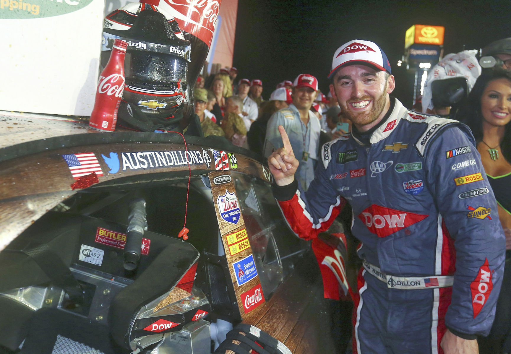 Austin Dillon wins first Cup race, takes 600-mile race