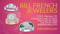 Diamonds Copperas Cove 254-547-3828 Bill French Jewelers