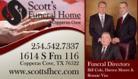 Funeral Copperas Cove Tx 254-542-7337 Scott's Funeral Home - Cremation