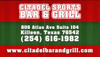 Sports Bar Killeen 254-616-1982 Citadel Sports Bar & Grill