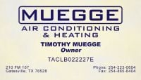 Heating Copperas Cove 254-223-0604 Muegge AC Repair