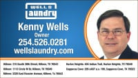 Experience the difference at one of Well's Laundry's 5 convenient locations in Central Texas. The following are a few reasons why you should visit a Wells Laundry, TODAY.      SAVE TIME & MONEY     LARGE CAPACITY WASHERS & DRYERS     Safe & Comfortable Air Conditioned Locations     Open Early and Extended Hours, Everyday     Comfortable Seating and Televisions     Snack & Drink Vending Machines     ATM / EBT Cash Machines     Free WiFiKenny Wells Killeen TX 254-526-0281 Wells Laundry