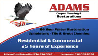 Water Restoration Copperas Cove 254-394-0046 Adams Carpet & Restoration
