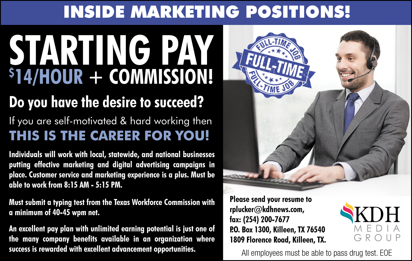 Inside Marketing Positions!