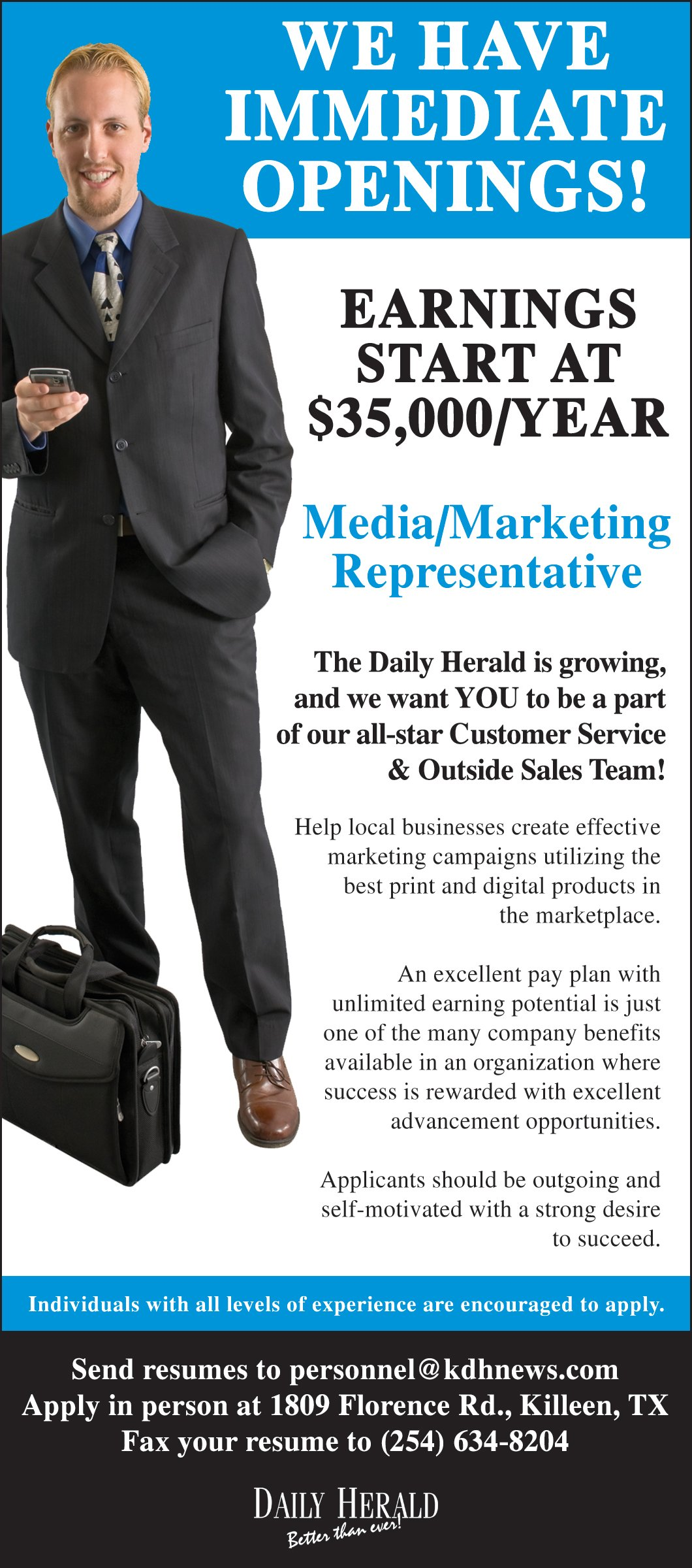 Media/ Marketing Rep