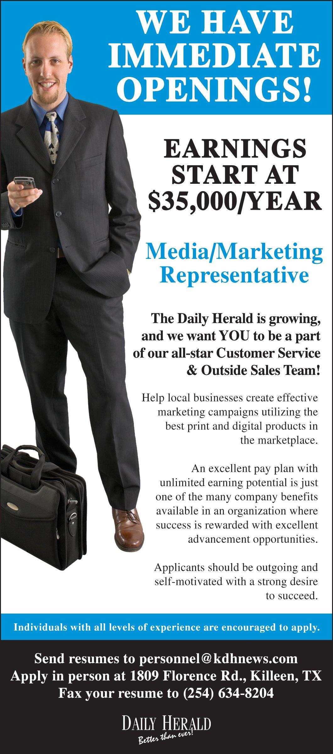 Media/ Marketing Rep