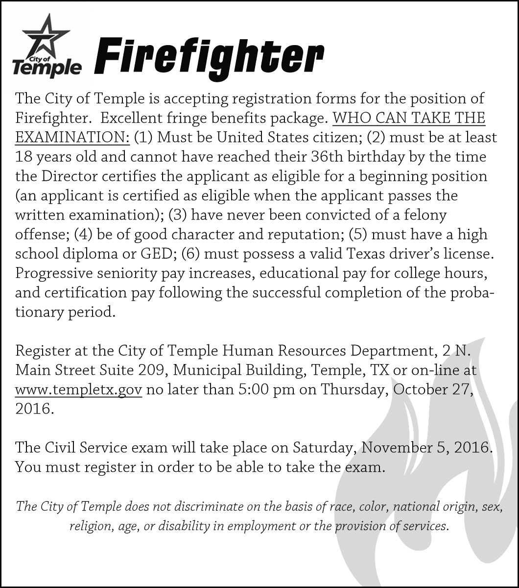 City of Temple - Firefighter