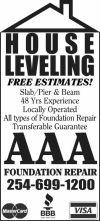 AAA House Leveling