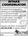 Intake Coordinator