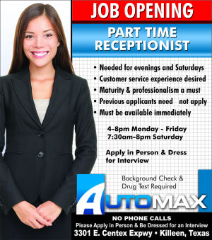 Part Time Receptionist