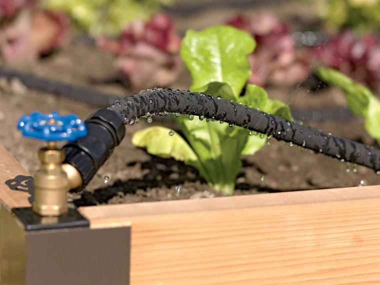 Snip-n-drip soaker system