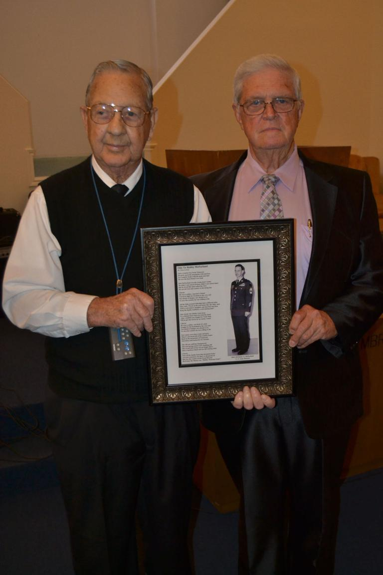 Pastor honors longtime friend for service to country, community and church