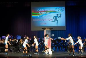 <p>This year's convocation at Copperas Cove Independent School District had an Olympic theme. The convocation was held to pump up the district's 1,300 employees as the school year begins next week.</p>