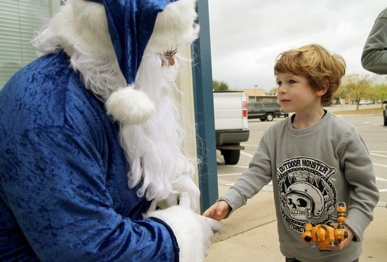 Blue Santa