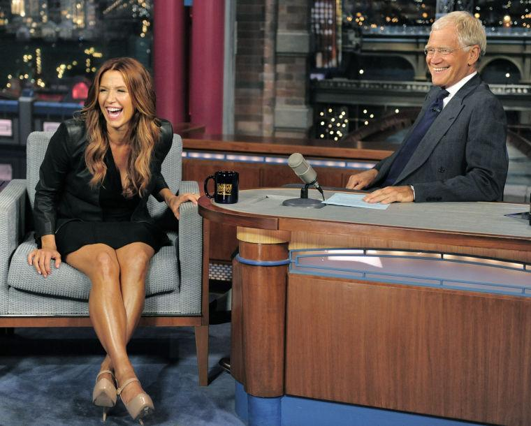 Poppy Montgomery; David Letterman