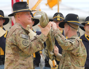 1st Cavalry Division Colors Casing Ceremony