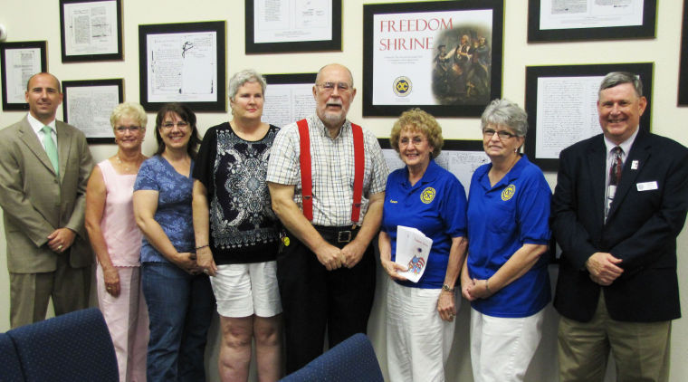 Gatesville Exchange Club's Freedom Shrine