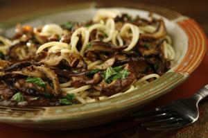 Woodsy mushroom pasta