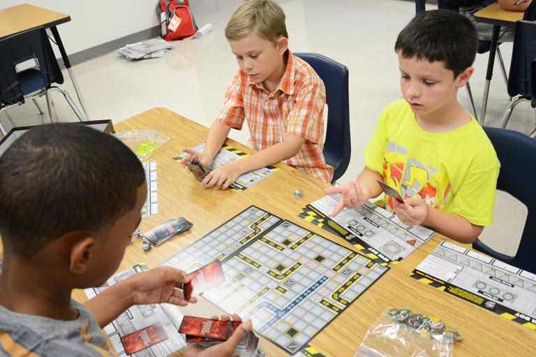 Gifted game day challenges students