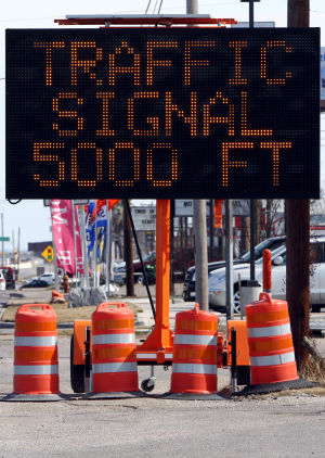 Traffic signals to begin Thursday
