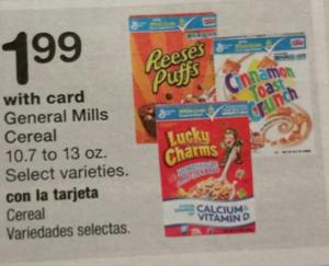 Save 71% on General Mills Cereal at Walgreen's this week! WOW!