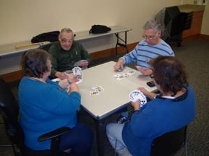 Players gather for challenging games of pinochle at Heights Activity Center