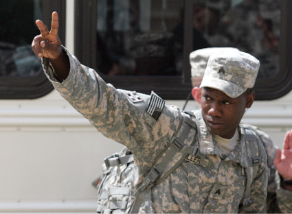 Another 80 members of Big Red One's 3rd Brigade deploy to fight against Taliban