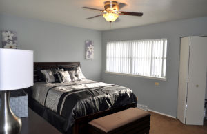 Fort Hood Housing: The master bedroom of a three-bedroom home in Comanche Village III at Fort Hood is seen Dec. 30. - Bryan Correira | Herald