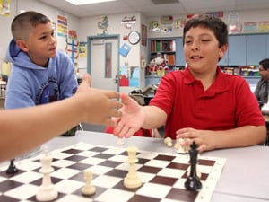 Elementary students learn strategy, life application during chess club